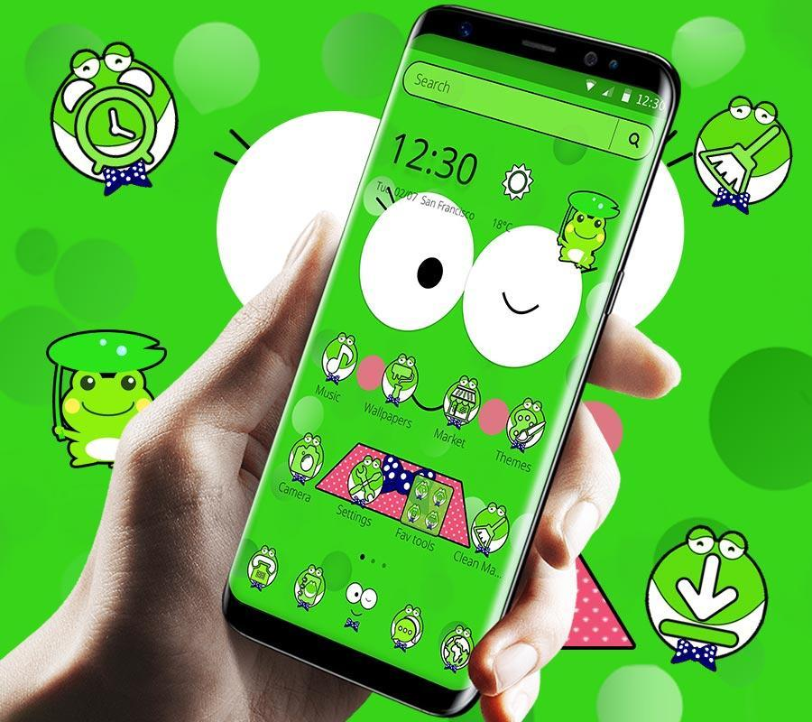 Cute Cartoon Green Frog Theme For Android Apk Download