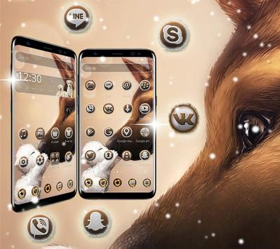 Cute puppy dog theme screenshot 1