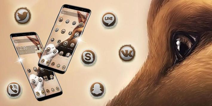 Cute puppy dog theme screenshot 3