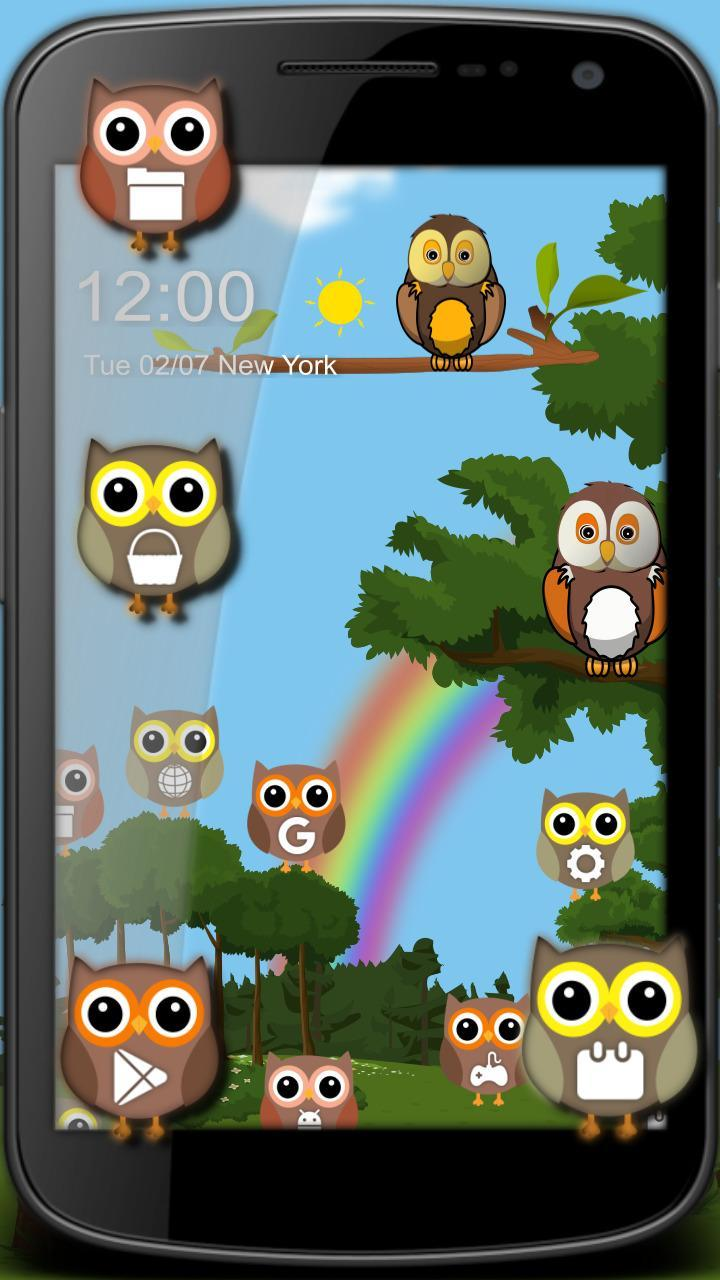 Tema Hutan Kartun Owl Lucu For Android APK Download