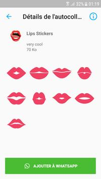 love lips stickers for whatsapp poster