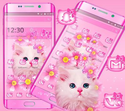 Cute Pink Kitty Cat Theme screenshot 4