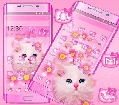 Cute Pink Kitty Cat Theme screenshot 5
