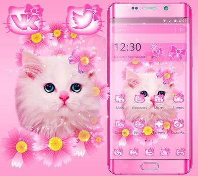 Cute Pink Kitty Cat Theme screenshot 8
