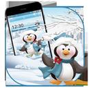 Cute snow penguin theme APK