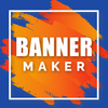 Banner Maker Photo and Text icône