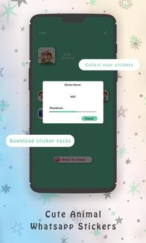 WaStickerApps Cute Animal Whatsapp Stickers poster