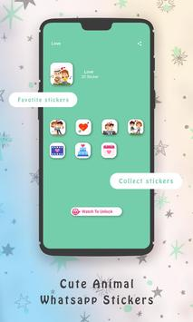 WaStickerApps Cute Animal Whatsapp Stickers screenshot 16
