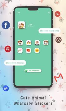 WaStickerApps Cute Animal Whatsapp Stickers screenshot 11