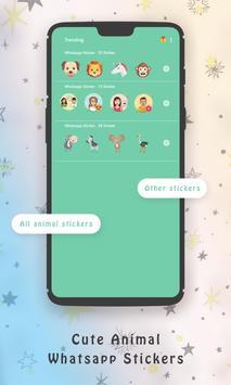 WaStickerApps Cute Animal Whatsapp Stickers screenshot 13