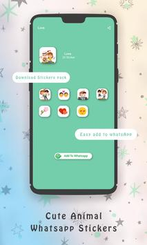 WaStickerApps Cute Animal Whatsapp Stickers screenshot 1
