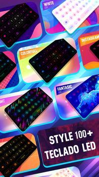 Teclado LED de néon - cores de iluminação RGB imagem de tela 10