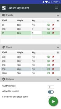 CutList Optimizer screenshot 1