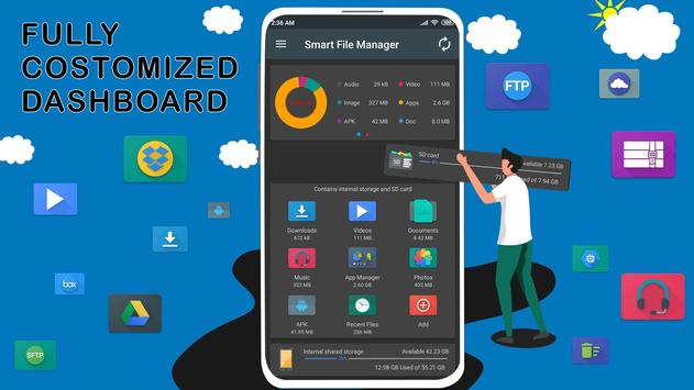 File Manager - Local and Cloud File Explorer Affiche