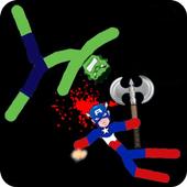 Stickman Warriors Online icon