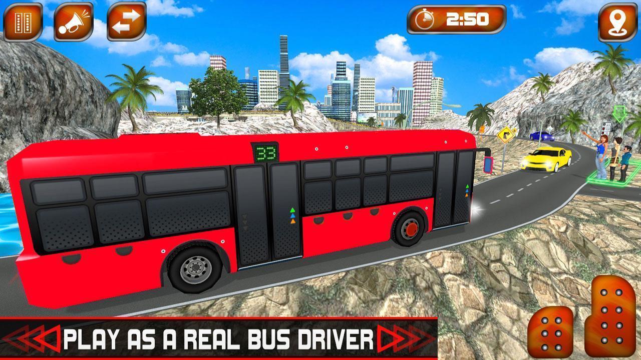 Off-Road Uphill Tourist Bus Driver Sim 2