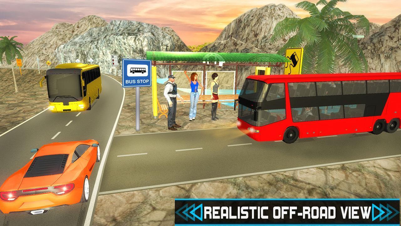 Off-Road Uphill Tourist Bus Driver Sim 3