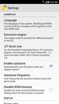 MegaNDS (NDS Emulator) screenshot 5