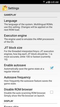 MegaNDS (NDS Emulator) screenshot 1