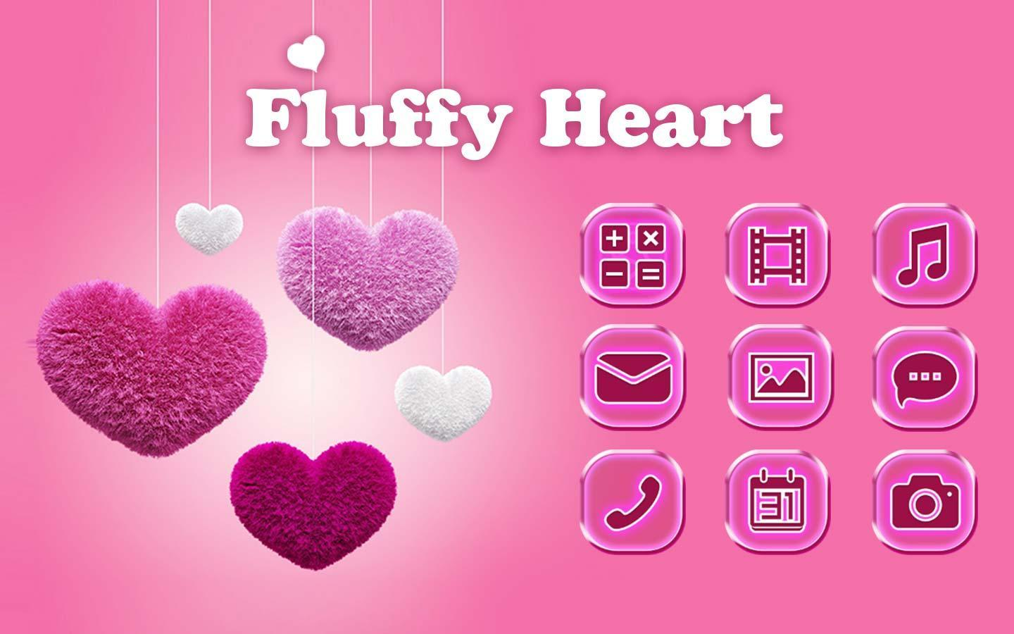 Fluffy diamond Hearts Theme: Pink Comics Launcher poster