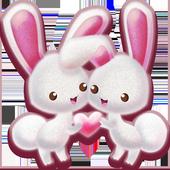 Love Rabbit Theme - Kawaii Cute Bunny Comic Theme icon