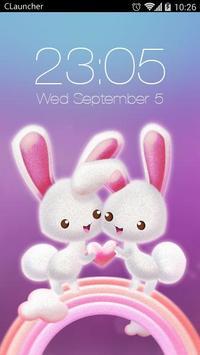 kelinci tema lucu poster