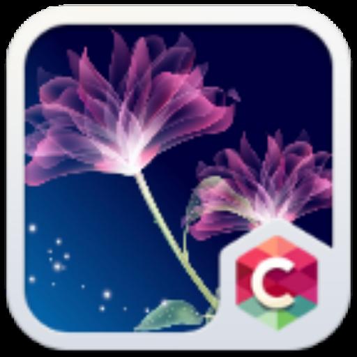 Neon Flower Theme C Launcher