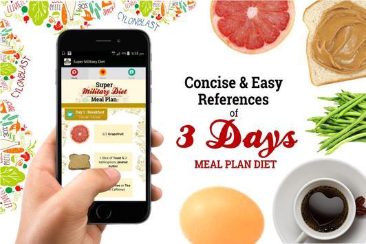 Super Military Diet Plan स्क्रीनशॉट 5