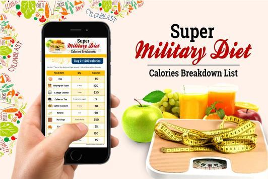 Super Military Diet Plan स्क्रीनशॉट 2