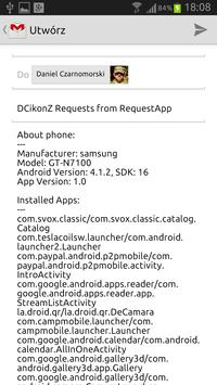DCikonZ Request App screenshot 1