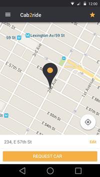 Cab2Ride Passenger - Book Taxi screenshot 1