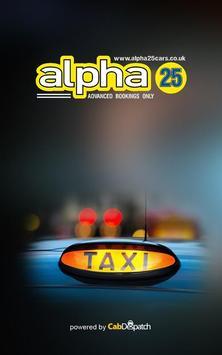 Alpha 25 Cars poster