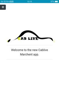 Cab Live Merchant App screenshot 1