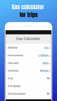 Gas calculator for trips APP screenshot 4