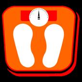 Calculateur de masse corporelle IMC poids idéal icône