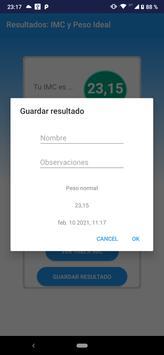 Calculadora IMC Indice de masa Corporal Peso Ideal скриншот 2