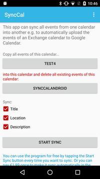SyncCal captura de pantalla 1