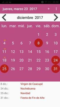 Calendario Paraguay screenshot 1