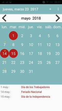 Calendario Paraguay screenshot 21