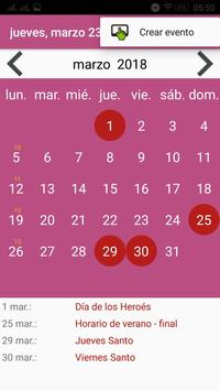 Calendario Paraguay screenshot 2
