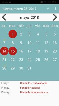 Calendario Paraguay screenshot 5