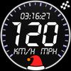 GPS snelheidsmeter - dagteller - hoogtemeter-icoon