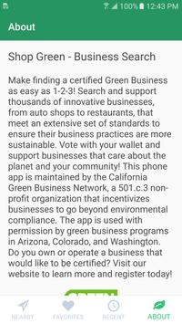 Shop Green - Business Search screenshot 1