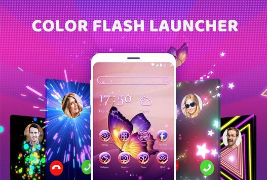 Color Flash Launcher الملصق