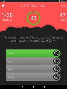 UnOfficial Call Of Duty Quiz Trivia Game screenshot 6