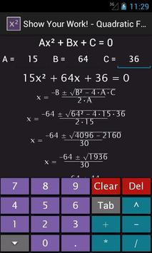 Quadratic Equation Solver screenshot 1