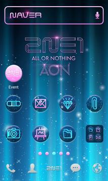 2NE1 AON LINE Launcher theme screenshot 1