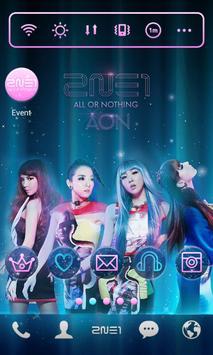 2NE1 AON LINE Launcher theme screenshot 2