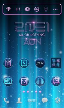 2NE1 AON LINE Launcher theme screenshot 6