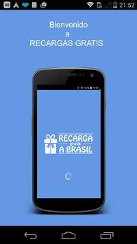 Recargas GRATUITAS a Brasil poster